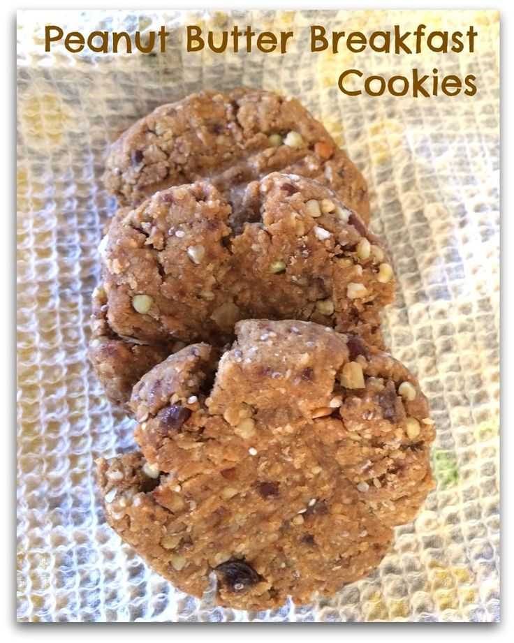 Peanut Butter Protein Breakfast Cookies | hair stuff | Pinterest