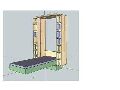 Woodworking PLANS Murphy Cabinet Wall Bed 200x90cm DIY On EBay