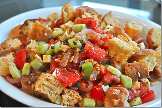 Panzanella-- Italian bread salad | Food From My Blog | Pinterest