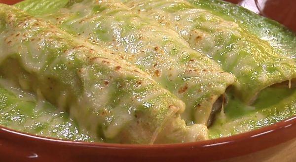 ... | Enchiladas Especiales Tacuba Style - spinach, poblanos, chicken