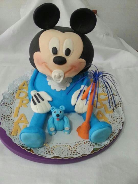 Baby mickey mouse 3d cake disney cakes pinterest
