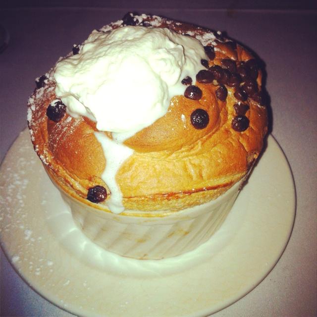 Chocolate soufflé at Coq Au Vin | Food | Pinterest