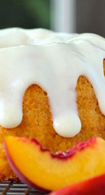 Peaches and Cream Bundt Cake