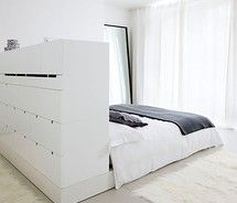 Bed head with storage live in it pinterest for Bedhead storage ideas
