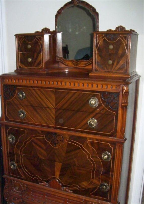 antique vintage 4 piece bedroom set early 1900s wood