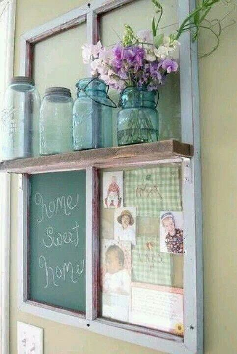repurposed old window repurposing pinterest