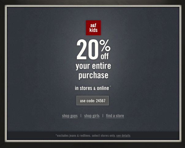 Abercrombie outerwear coupons