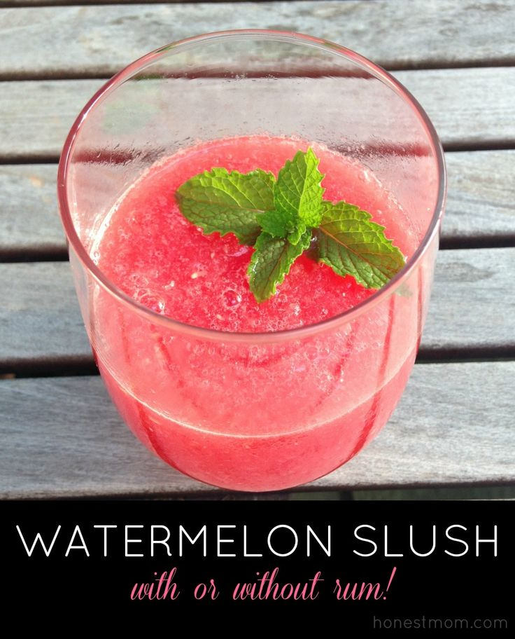 Summer cocktail recipe: Watermelon Slush (with or without rum ...