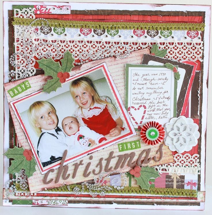Christmas layout christmas scrapbooking layouts pinterest