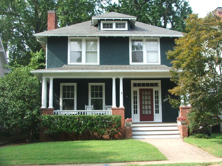 Four square style porch attic dormer architecture for Classic house colors