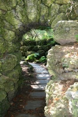 rock garden path gardens pinterest