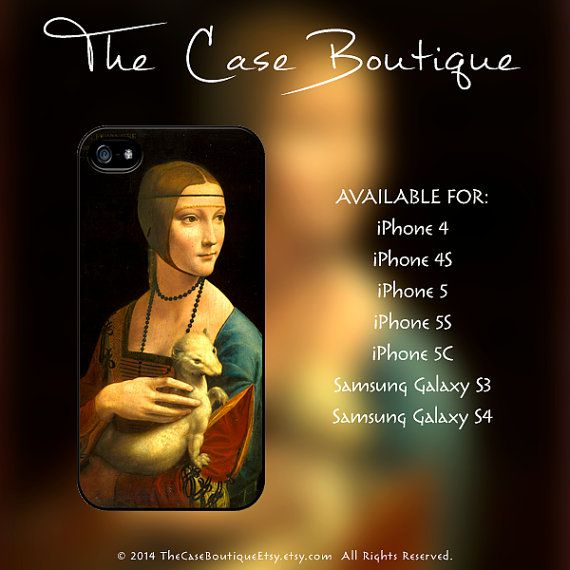 Leonardo Da Vinci Lady With An Ermine Case by TheCaseBoutiqueEtsy, $12 ...