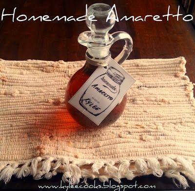 Homemade Amaretto: www.KyleeCooks.blogspot.com