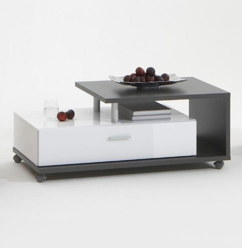 Couchtisch Lenon Anthrazit/Weiß Moderner Couchtisch