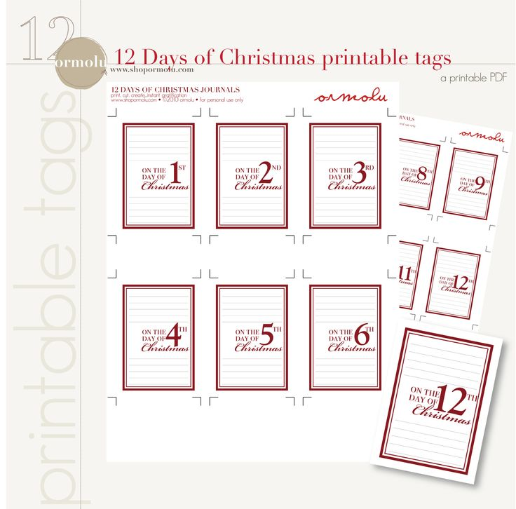 12 days of christmas printable search results calendar 2015. Black Bedroom Furniture Sets. Home Design Ideas