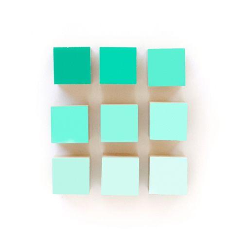 DIY wooden gradient blocks