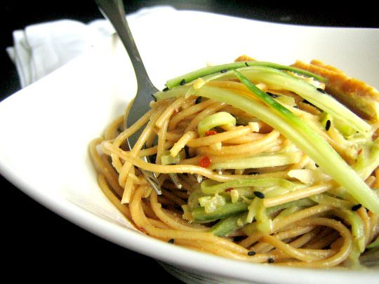 One of our family's favorite recipes - cold peanut-sesame noodles. We ...