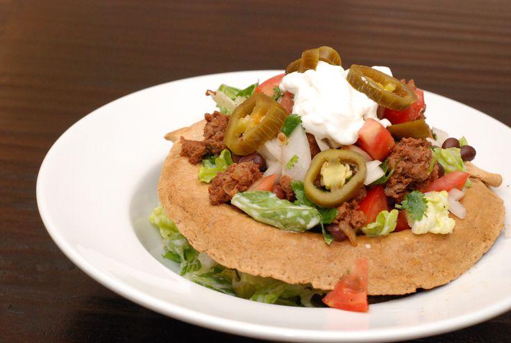 Tostada Salad Recipe with Ground Beef - 7 Point Total - LaaLoosh