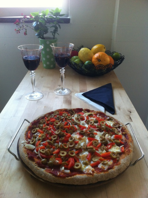 Whole grain pizza | Stuff I MUST Make and Bake! | Pinterest