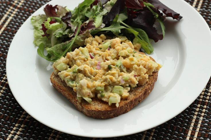 Smashed Chickpea Olive Salad | Green Cuisine: Chick Peas | Pinterest