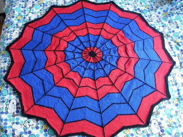 Crochet Pattern For Spiderman Blanket : Spiderman Blanket Free Knitting Pattern Crafts Pinterest