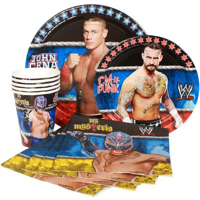 WWE Birthday Party Supplies-Napkins Plates Cups