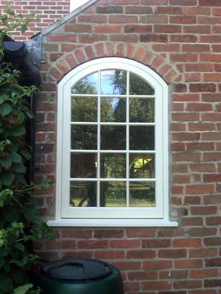 Arch top flush casement wooden window house pinterest for Arch window replacement
