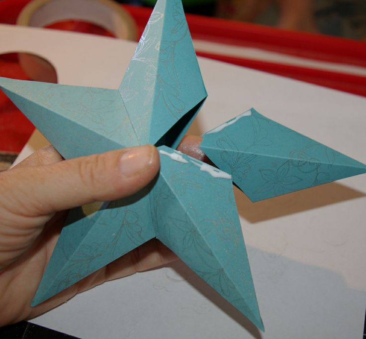 Paper 3D Templates | ... Paper Star - Three Dimensional Paper Star ...