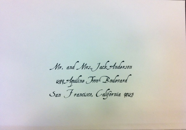 Calligraphy Font Styles for Envelope Addressing & Wedding Envelope ...