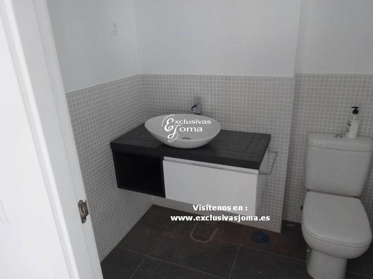 medida en color blanco alto brillo y gris  Mueble Baño Gris Brillo