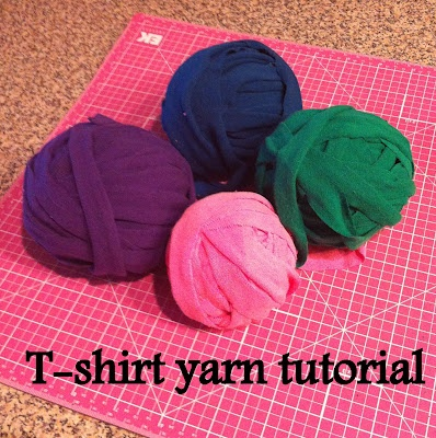 how to make t-shirt yarn for crafts | DIY & Crafts | Pinterest