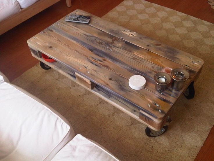 Pallet coffee table reuse pinterest for Pallet coffee table instructions