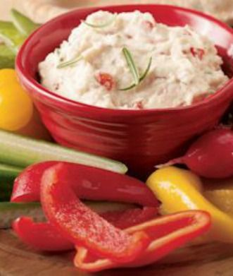 white bean dip gets a boost from red peppers, rosemary and fresh lemon ...