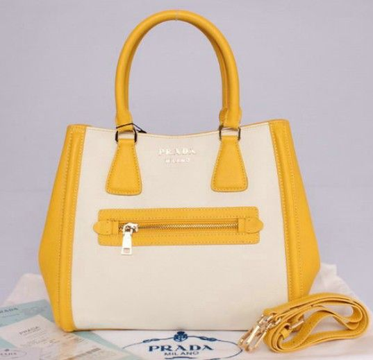 saffiano cuir leather tote - double leather handle - leather