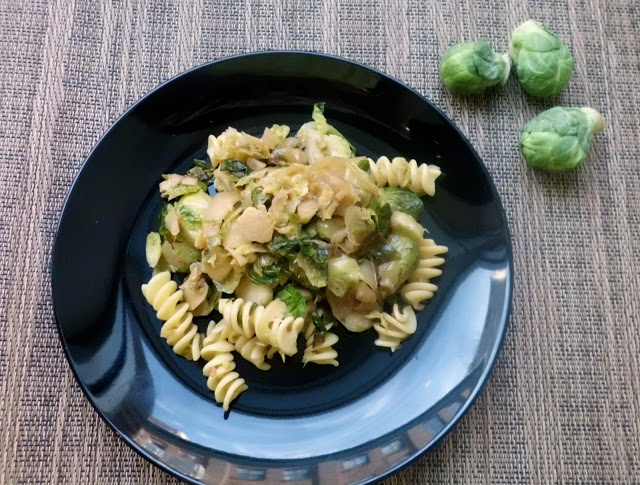 pasta with brussels sprouts | When I say I'm vegan, here is what I ea ...