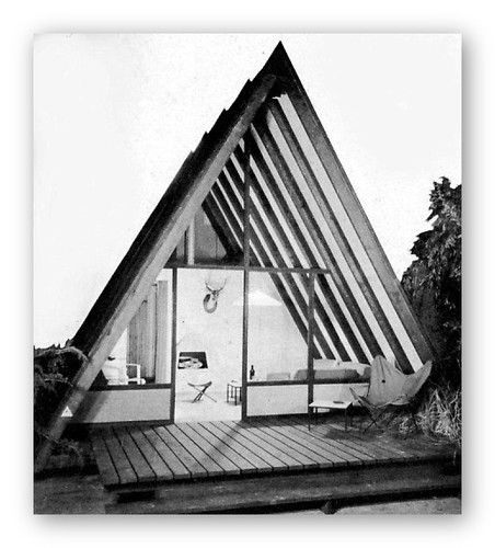 1952 vacation beach houses cabins a frames mid century for Beach cabin designs