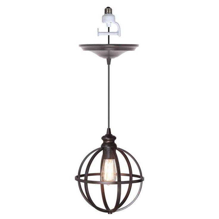 products 1 light brushed bronze instant pendant light conversion kit. Black Bedroom Furniture Sets. Home Design Ideas