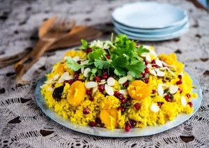 More like this: pilaf , apricots and pomegranates .
