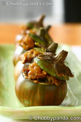"... Cooking Supplies: Miso Beef Stuffed Eggplant ""Pumpkins"" - [Cooking"