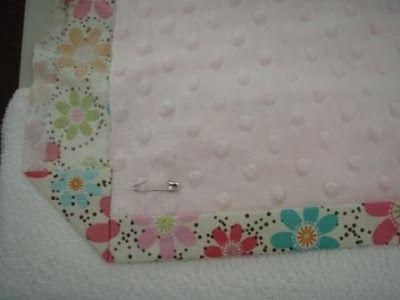 how to make baby blanket binding