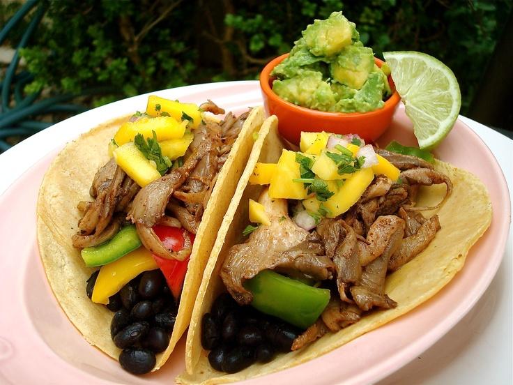 Oyster Mushroom Tacos | From the Farm | Pinterest