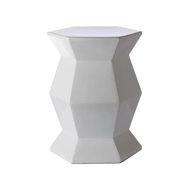 White Hex Lacquer Accent Table - Talk about the perfect little accent table. #PNshop
