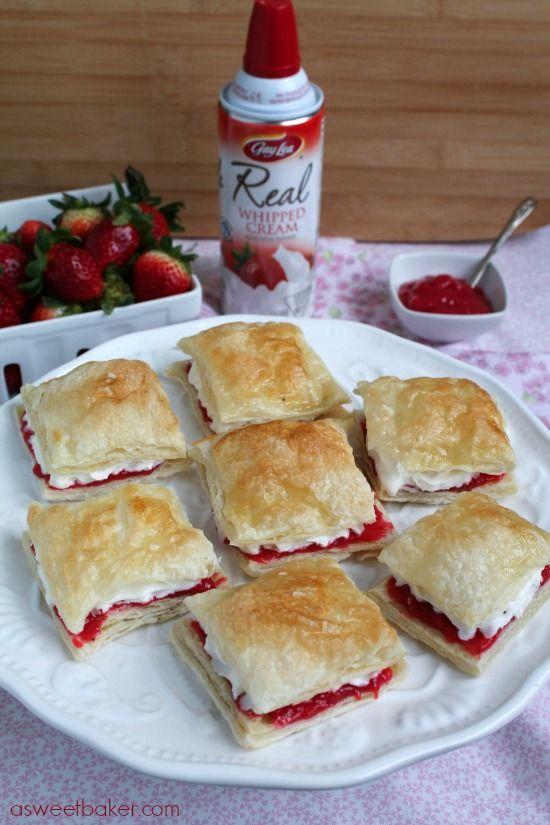 Strawberry Napoleons   A Sweet Baker   yummy   Pinterest