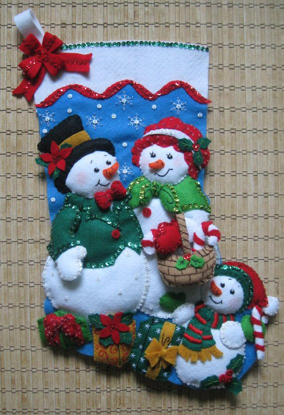 Completed Bucilla Christmas Stocking Our Family by HollyCreations, $105.00