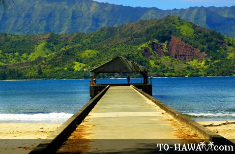 "Hanalei Bay Pier in Kauai..inspiration for ""Puff the Magic Dragon"""