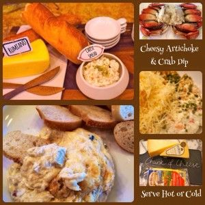 Cheesy Artichoke & Crab Dip http://rumianocheese.com/our-cheese ...