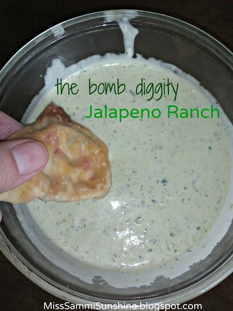 "The ""Bomb Diggity"" Jalapeno Ranch Dressing {MissSammiSunshine.blogs..."