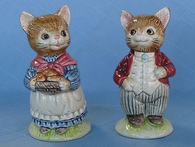 Vintage Hand Painted Otagiri Japan Ceramic CAT Salt Pepper Shakers