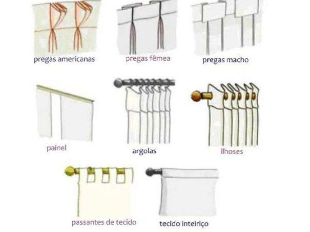 casa.. diferentes tipos de cortinas Lar... Doce Lar Pinterest