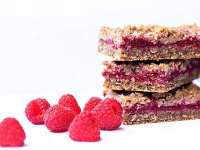 Raspberry crumble breakfast bars | Food | Pinterest